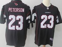 Mens Nfl Arizona Cardinals #23 Peterson Black Vapor Untouchable Limited Jersey