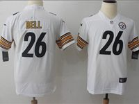 Women Youth Nfl Pittsburgh Steelers #26 Le'veon Bell White Vapor Untouchable Limited Player Jersey