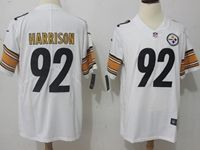 Mens Nfl Pittsburgh Steelers #92 James Harrison White Vapor Untouchable Limited Jersey