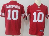 Mens Nfl San Francisco 49ers #10 Jimmy Garoppolo Red Nike Game Jersey