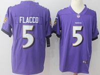 Mens Nfl Baltimore Ravens #5 Joe Flacco Purple Vapor Untouchable Limited Player Jersey