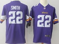 Mens Nfl Minnesota Vikings #22 Harrison Smith Purple Nike Game Jersey