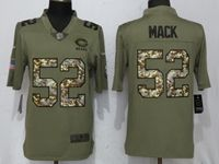 Mens Women Nfl Chicago Bears #52 Khalil Mack Olive Camo Carson 2017 Salute To Service Limited Jersey