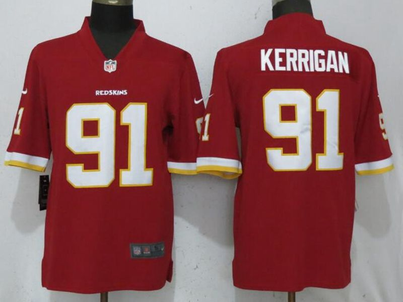 Mens Nfl Washington Redskins #91 Ryan Kerrigan Red Vapor Untouchable Limited Player Jersey
