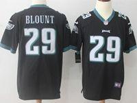 Mens Nfl Philadelphia Eagles #29 Legarrette Blount Black Nike Game Jersey