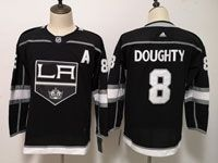 Womens Youth Adidas Los Angeles Kings #8 Drew Doughty Black Home Jersey