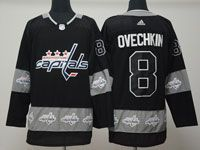 Mens Nhl Washington Capitals #8 Alexander Ovechkin Black Logo Patch Adidas Jersey
