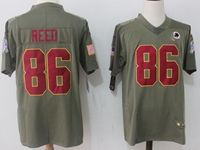 Mens Nfl Washington Redskins #86 Jordan Reed Green Olive Salute To Service Limited Nike Jersey