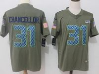 Mens  Nfl Seattle Seahawks #31 Kam Chancellor Olive Salute To Service Limited Nike Jersey