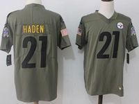 Mens Nfl Pittsburgh Steelers #21 Haden Green Olive Salute To Service Limited Nike Jersey