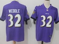 Mens Nfl Baltimore Ravens #32 Eric Weddle Purple Vapor Untouchable Limited Player Jersey