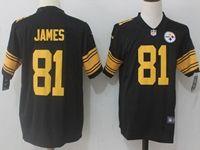 Mens Nfl Pittsburgh Steelers #81 Jesse James Black Vapor Untouchable Color Rush Limited Player Jersey