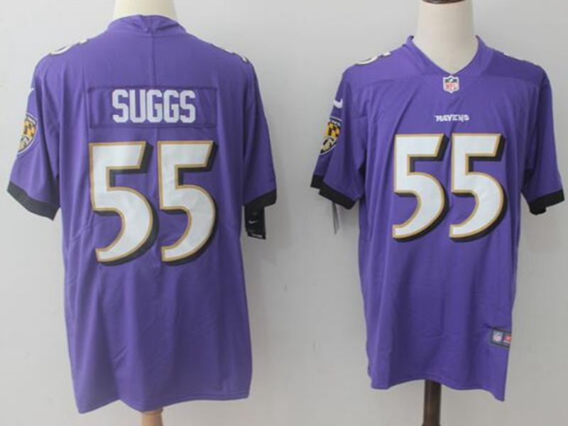Mens Nfl Baltimore Ravens #55 Terrell Suggs Purple Vapor Untouchable Limited Jersey