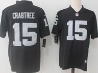 Mens Nfl Oakland Raiders #15 Michael Crabtree Black Vapor Untouchable Limited Jersey