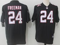 Mens Nfl Atlanta Falcons #24 Devonta Freeman Black Nike Game Jersey