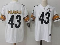 Mens Nfl Pittsburgh Steelers #43 Troy Polamalu White Vapor Untouchable Limited Jersey