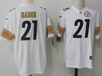 Mens Nfl Pittsburgh Steelers #21 Joe Haden White Nike Game Jersey