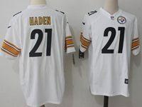 Mens Nfl Pittsburgh Steelers #21 Joe Haden White Nike Game Jersey