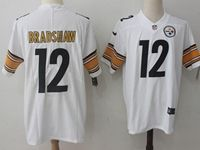 Mens Nfl Pittsburgh Steelers #12 Terry Bradshaw White Vapor Untouchable Limited Jersey
