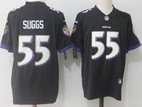 Mens Nfl Baltimore Ravens #55 Terrell Suggs Black Vapor Untouchable Limited Player Jersey