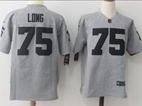 Mens Nfl Oakland Raiders #75 Howie Long Gray Limited Jersey