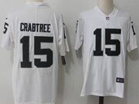 Mens Nfl Oakland Raiders #15 Michael Crabtree White Vapor Untouchable Limited Jersey