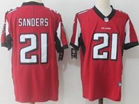 Mens Nfl Nike Atlanta Falcons #21 Deion Sanders Red Color Rush Limited Player Jersey