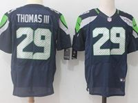 Mens Nfl Seattle Seahawks #29 Thomas Iii Dark Blue Nike Elite Jersey