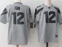 Mens Nfl Seattle Seahawks #12 Fan Gray Limited Jersey