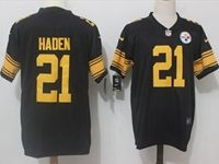 Mens Nfl Pittsburgh Steelers #21 Joe Haden Black Vapor Untouchable Color Rush Limited Player Jersey