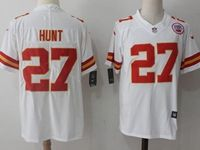 Mens Nfl Kansas City Chiefs #27 Kareem Hunt White Vapor Untouchable Limited Player Jersey