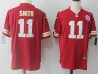 Mens Nfl Kansas City Chiefs #11 Alex Smith Red Nike Game Jersey