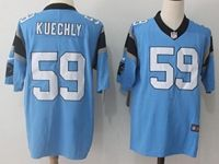 Mens Nfl Carolina Panthers #59 Kuechly Blue Nike Game Jersey