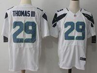 Mens Nfl Seattle Seahawks #29 Thomas Iii White Nike Elite Jersey