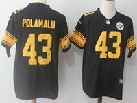 Mens Nfl Pittsburgh Steelers #43 Troy Polamalu Black Vapor Untouchable Color Rush Limited Player Jersey