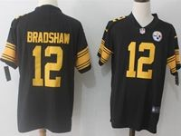 Mens Nfl Pittsburgh Steelers #12 Terry Bradshaw Black Vapor Untouchable Color Rush Limited Player Jersey