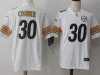 Mens Nfl Pittsburgh Steelers #30 James Conner White Nike Game Jersey
