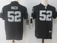 Youth Nfl Oakland Raiders #52 Khalil Mack Black Nike Game Jersey