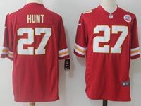 Mens Nfl Kansas City Chiefs #27 Kareem Hunt Red Nike Game Jersey