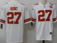 Mens Nfl Kansas City Chiefs #27 Kareem Hunt White Nike Game Jersey