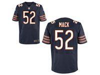 Mens Nfl Chicago Bears #52 Khalil Mack Blue Elite Jersey