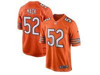 Mens Nfl Chicago Bears #52 Khalil Mack Orange Game Jersey