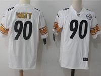 Mens Nfl Pittsburgh Steelers #90 T. J. Watt White Nike Game Jersey