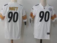 Mens Nfl Pittsburgh Steelers #90 T. J. Watt White Nike Game Jersey