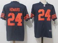 Mens Nfl Chicago Bears #24 Jordan Howard Blue Orange Number Vapor Untouchable Limited Jersey