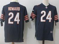 Mens Nfl Chicago Bears #24 Jordan Howard Blue Nike Game Jersey