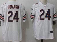 Mens Nfl Chicago Bears #24 Jordan Howard White Nike Game Jersey