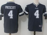 Youth Dallas Cowboys #4 Dak Prescott Blue Nike Game Jersey