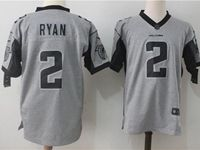 Mens Nfl Atlanta Falcons #2 Matt Ryan Gray Nike Game Jersey