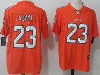 Mens Nfl Miami Dolphins #23 Jay Ajayi Orange Vapor Untouchable Color Rush Limited Player Jersey